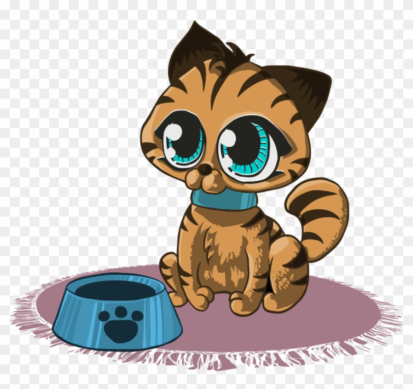 Kitten Free To Use Clipart Cartoon Cat Round Ornament Free