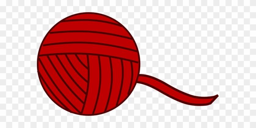 Ball Of Yarn Ball Yarn Knitting Wool Craft - Yarn Ball Clipart #604744