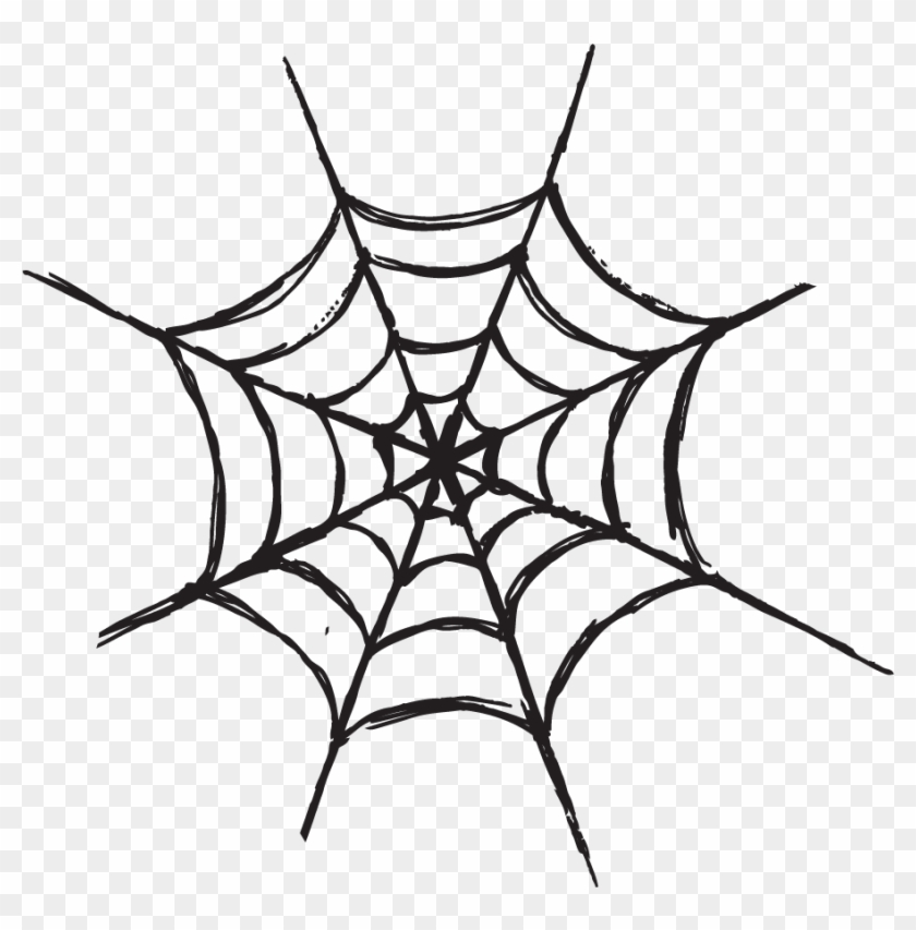 Scary Halloween Clipart - Spider Web Silhouette #605617