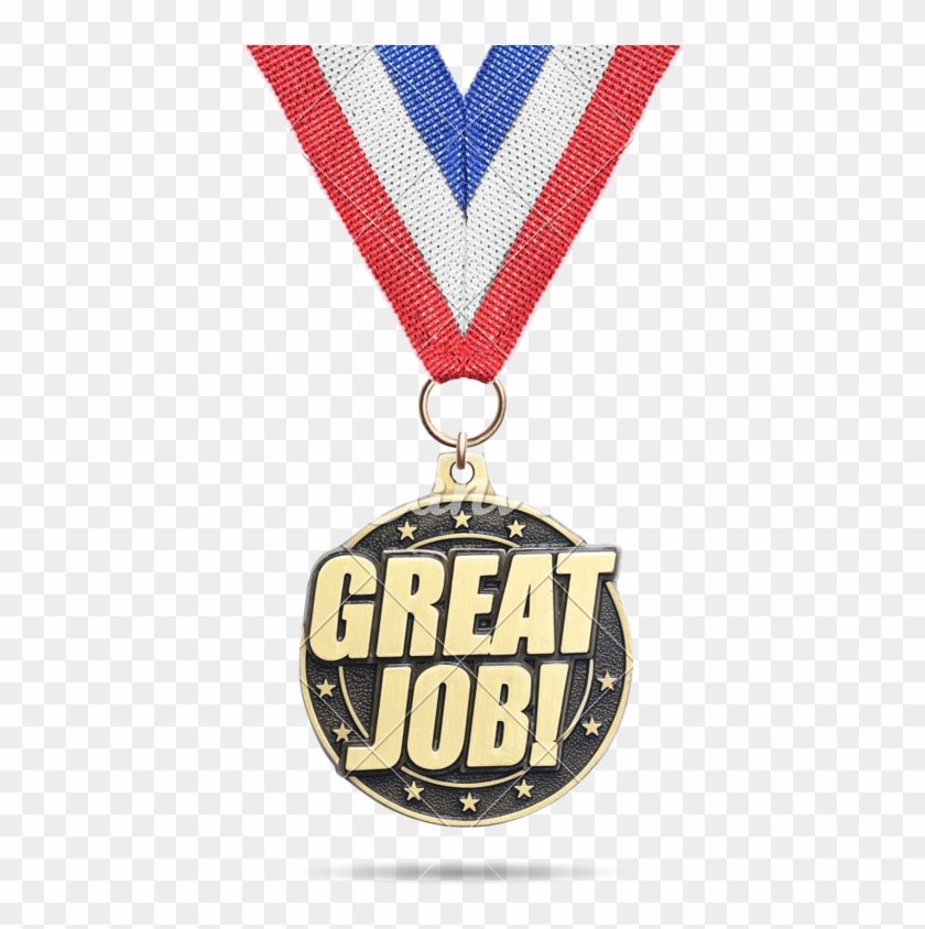 Gold Medal ''great Job'' Isolated - Medal Great Job Png #606327