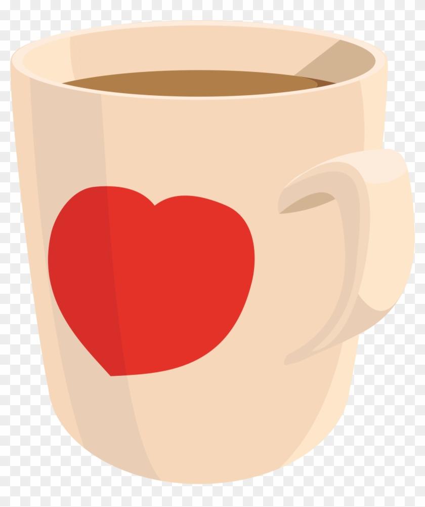 Big Image - Coffee Mug With A Heart Clip Art #606728