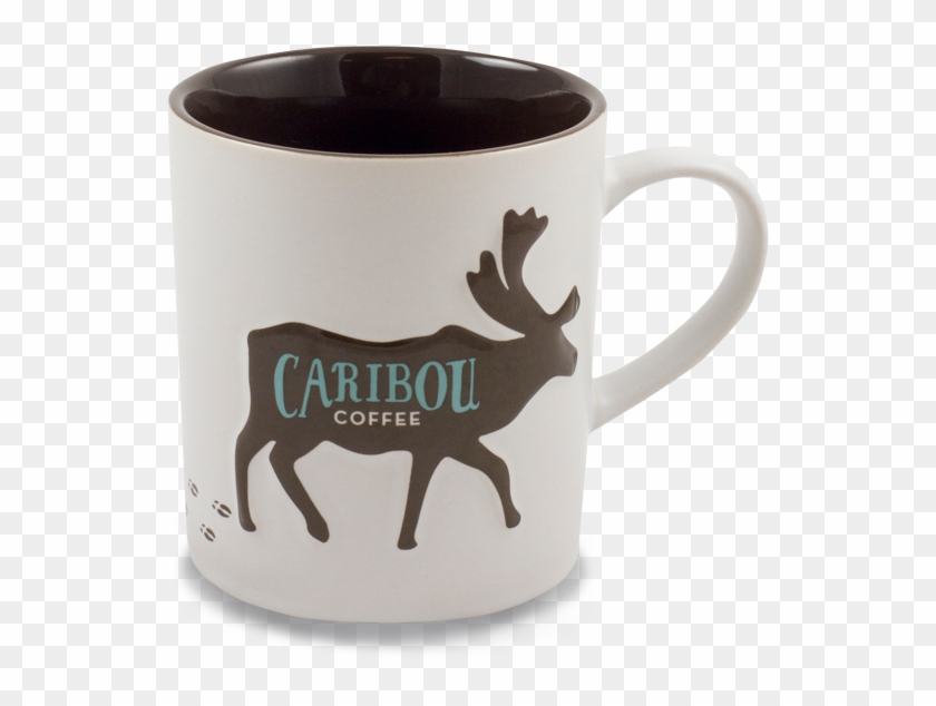 Caribou Coffee Ceramic Mug- Caribou Hoof Print 16oz - Caribou Coffee Mug #606831
