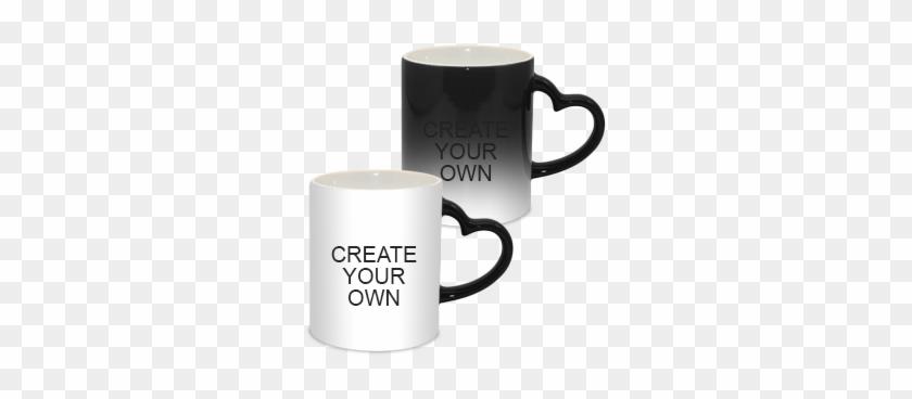 Coffee Mugs Buy Online In India Printland - Magic Mug Heart Handle #606909