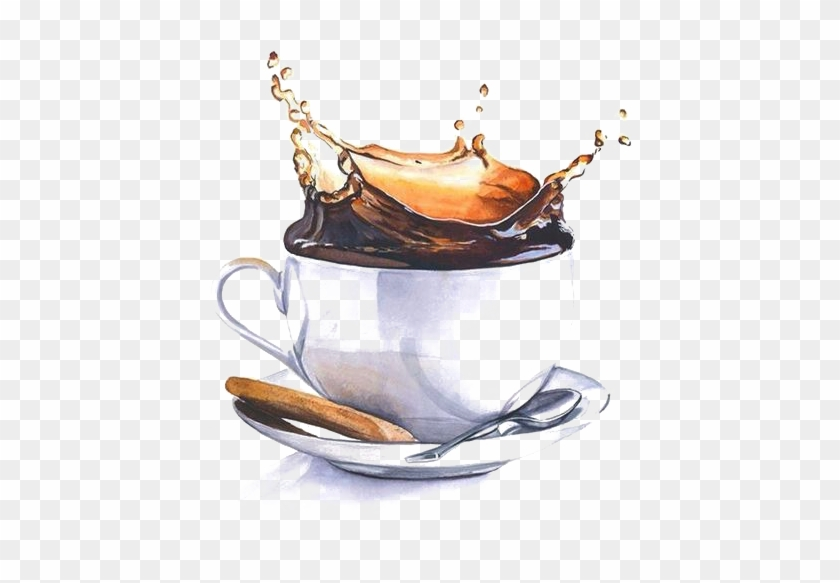 Watercolor Painting Drawing Art Illustration - Coffee Watercolor Painting #607169