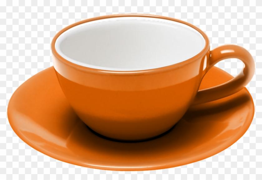 Teacup, Coffee, Saucer, Expresso, Procel, Orange - Teacup #607174