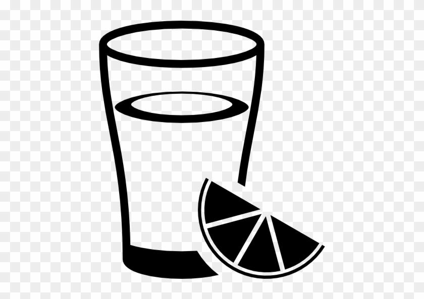 Lemonade, Food, Lemon Slice, Lemon, Lemon Juice, Glass - Glass With Lemon Svg #608226
