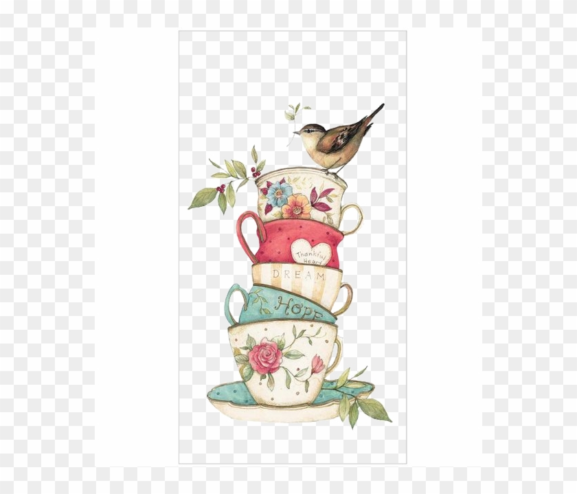 Teacup Stack - Birds - Heart Png - Transparency / Overlay - Clip Art Tea Cup #608354