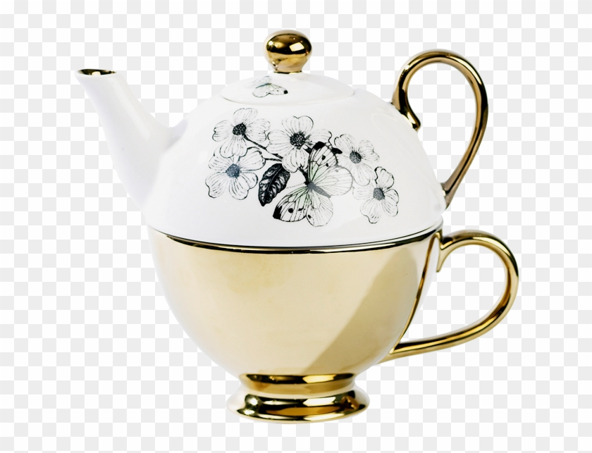 Miss Etoile Butterfly Tea For One Teapot With Teacup - Teapot #608438