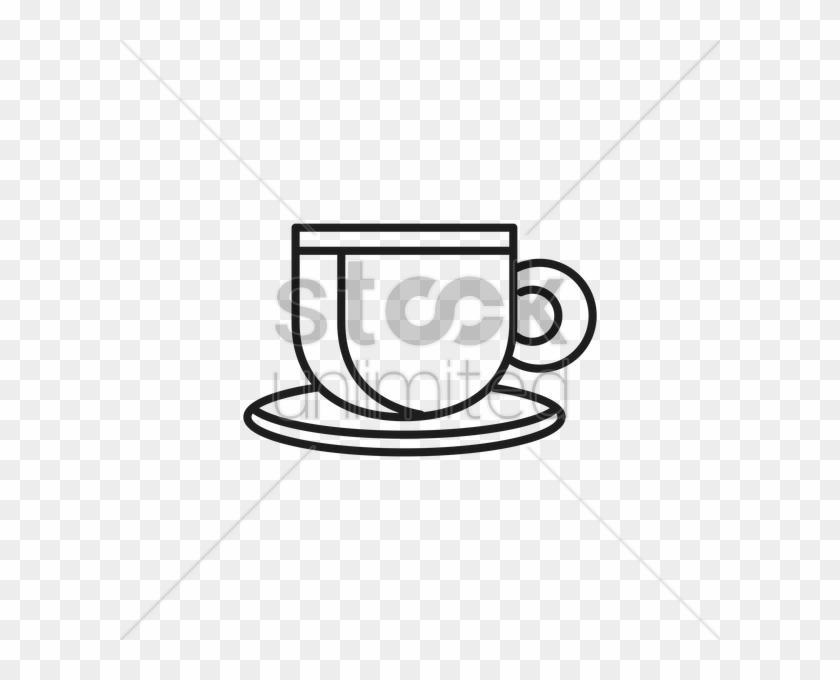 Tea Cup Vector Image - Teacup #608443
