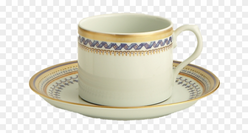 Chinoise Blue Tea Cup Saucer - Mottahedeh Chinoise Blue Can Tea Cup And Saucer #609656