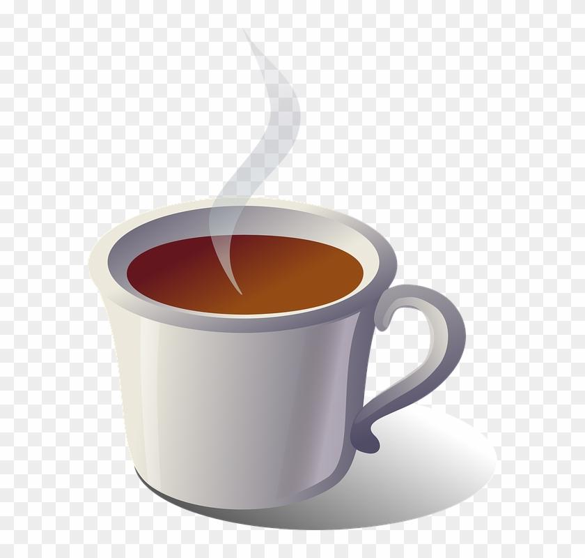 Teacup Clipart Hot Drink - Clip Art Cup Of Tea #610053