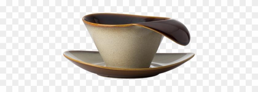 "Tea Cup & Saucer - Oneida Teacup Saucer, 7-1/4"", Oval, Coupe, For #610072"