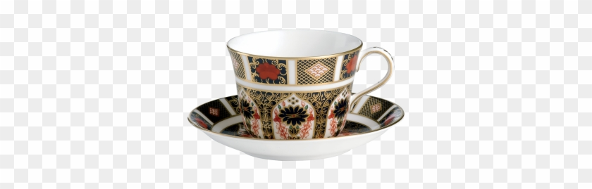 Tea Cup & Saucer - Old Imari Breakfast Cup By Royal Crown Derby #610073