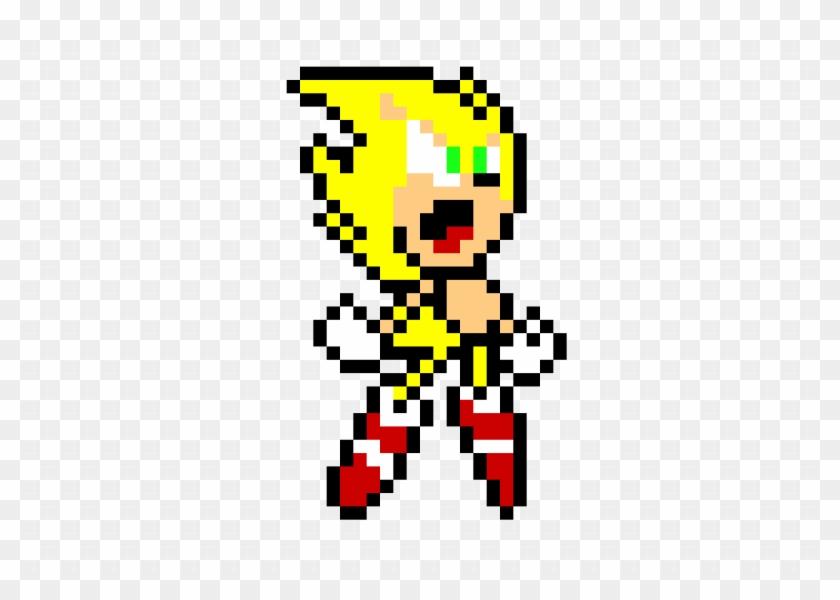 Pixel Art - Sonic Pocket Adventure Super Sonic Sprites - Free