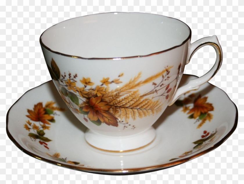 Vintage Queen Anne Bone China Tea Cup And Saucer With - Tea Cup And Saucer Transparent #610669