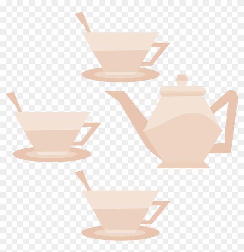 Medium Image - Tea Party No Background #611100
