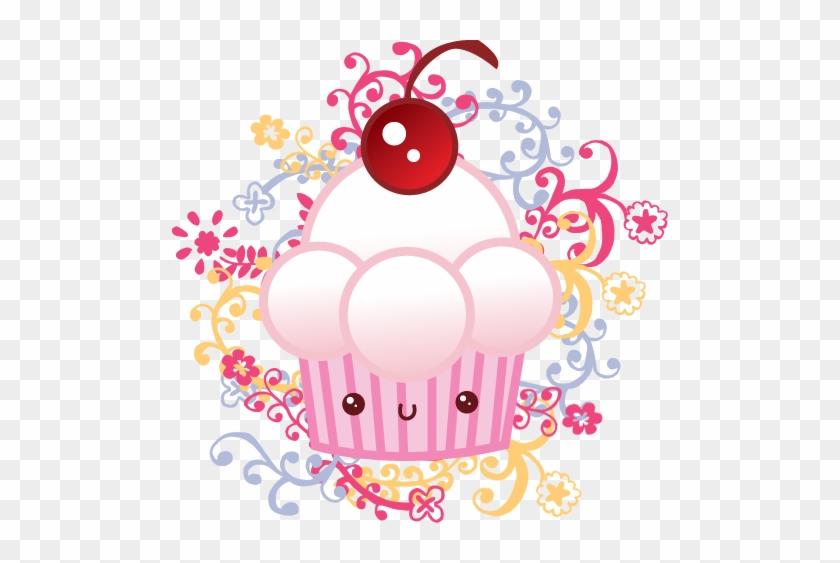 Kawaii Cupcake By Irym - Kawaii Cupcake Cake Cherry Baker Pendant Necklace #611882