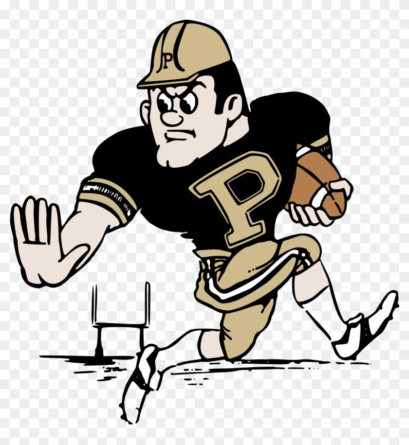 Purdue University Pete Logo Black And White - Purdue Basketball Mascot Png #611893
