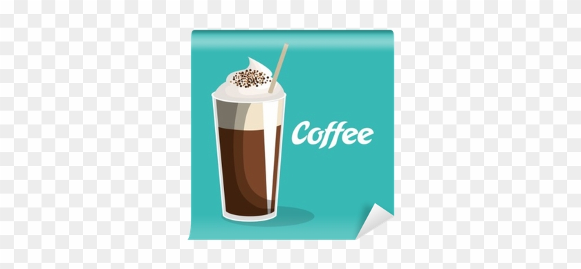 Delicious Coffee Iced Beverage Vector Illustration - Coffee #613369