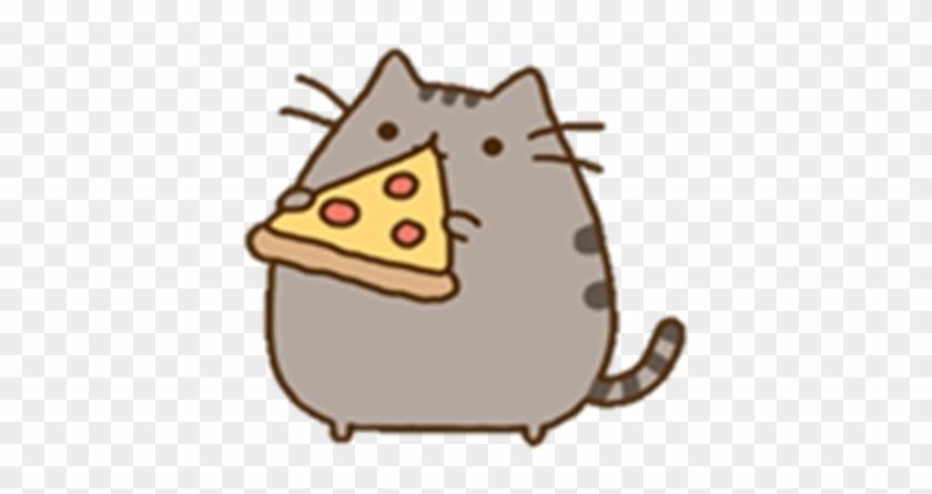 Pusheen Eating Pizza Transparent - Pusheen Comiendo Pizza #613562