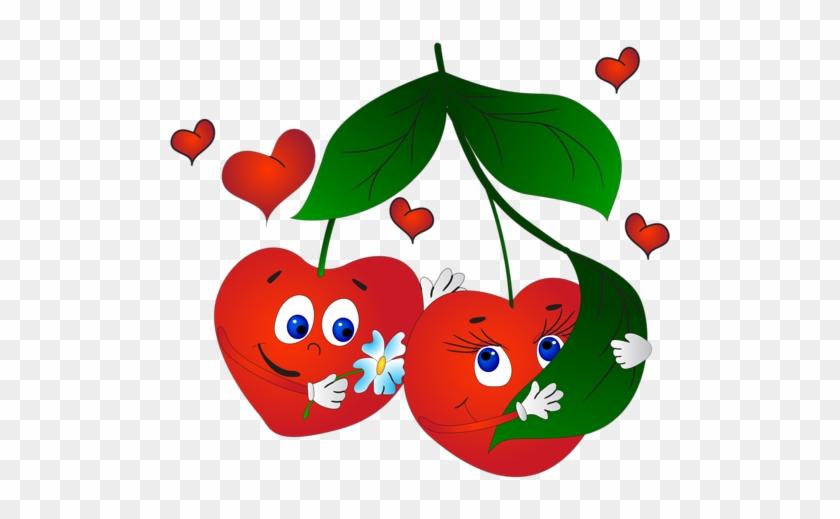 Food Clipart, Emojis, Strange Fruit, Funny Fruit, Fruit - Funny Cherry #614215