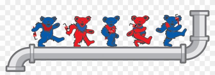Grateful Plumber Dancing Bears - Grateful Dead Dancing Bears #615217
