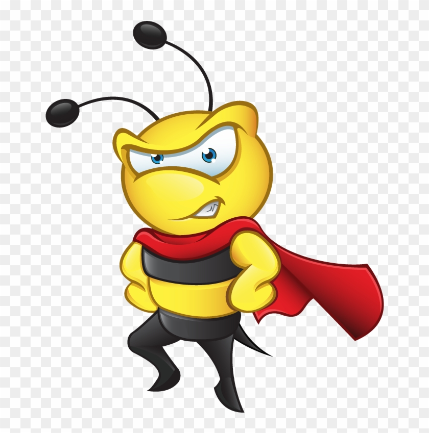 Clipart Image - Bee With Hard Hat #615658