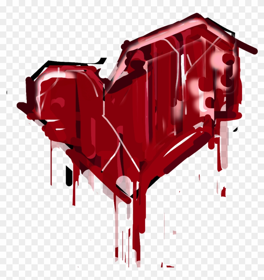 Heartbreak Heart Blood Splatter Graffiti Freetoedit - Pinkie Pie