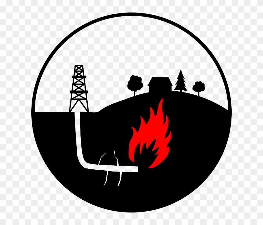 Flame Oil Production, Derrick, Danger, Burning, Flame - Shale Gas Clipart #616693