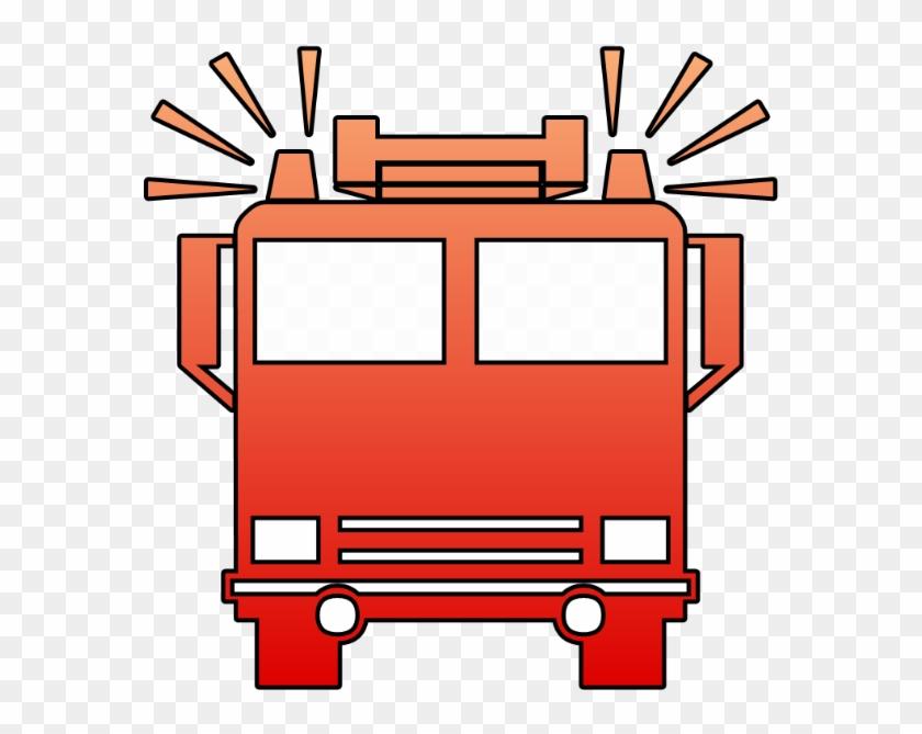 Car Fire Engine Truck Clip Art - Fire Truck Symbol Png #617349