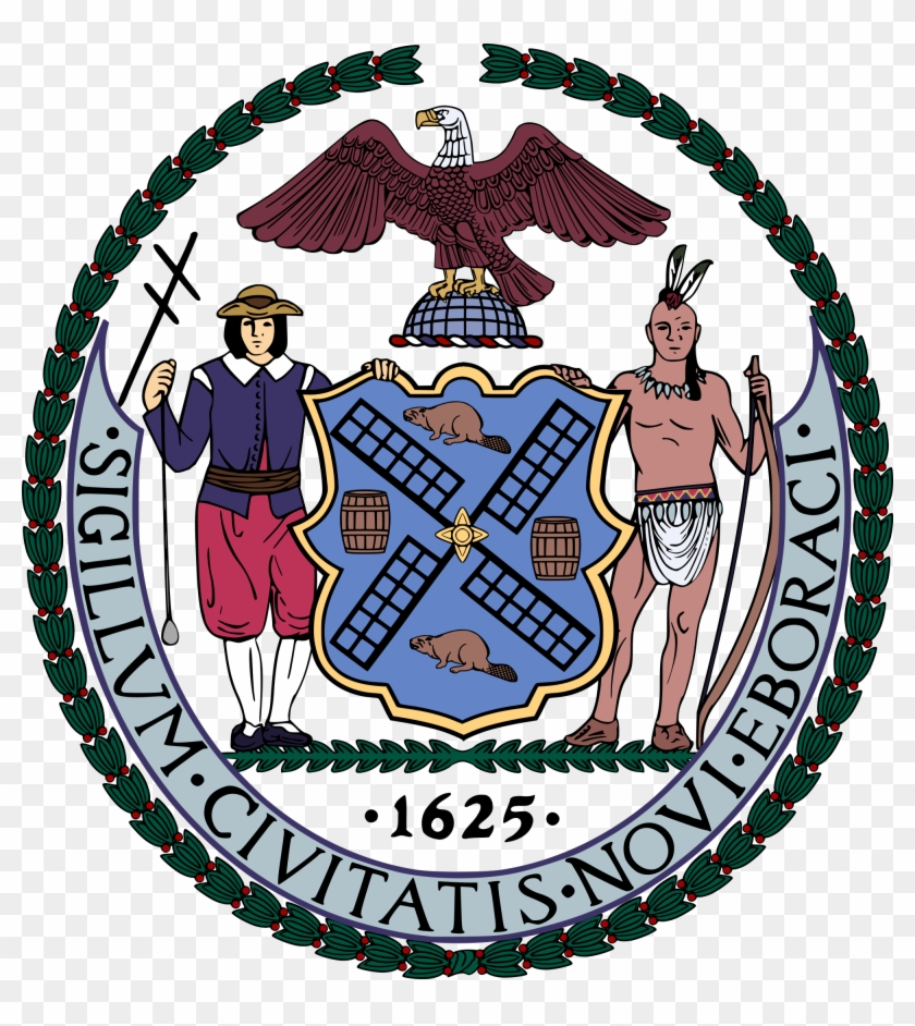 List Of Us State Nicknames Simple English Wikipedia - New York City Seal #618816