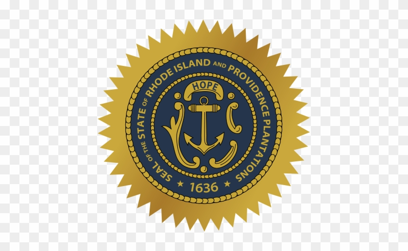 State Seal - Seal Of Rhode Island Shower Curtain #618960