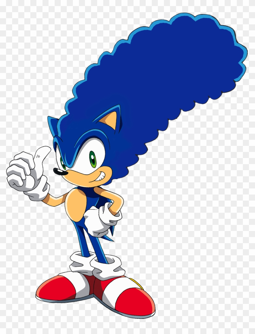 High Quality Image Of Sonic With Marge Simpsons Hair Sonic The Hedgehog Coloring Book Free Transparent Png Clipart Images Download