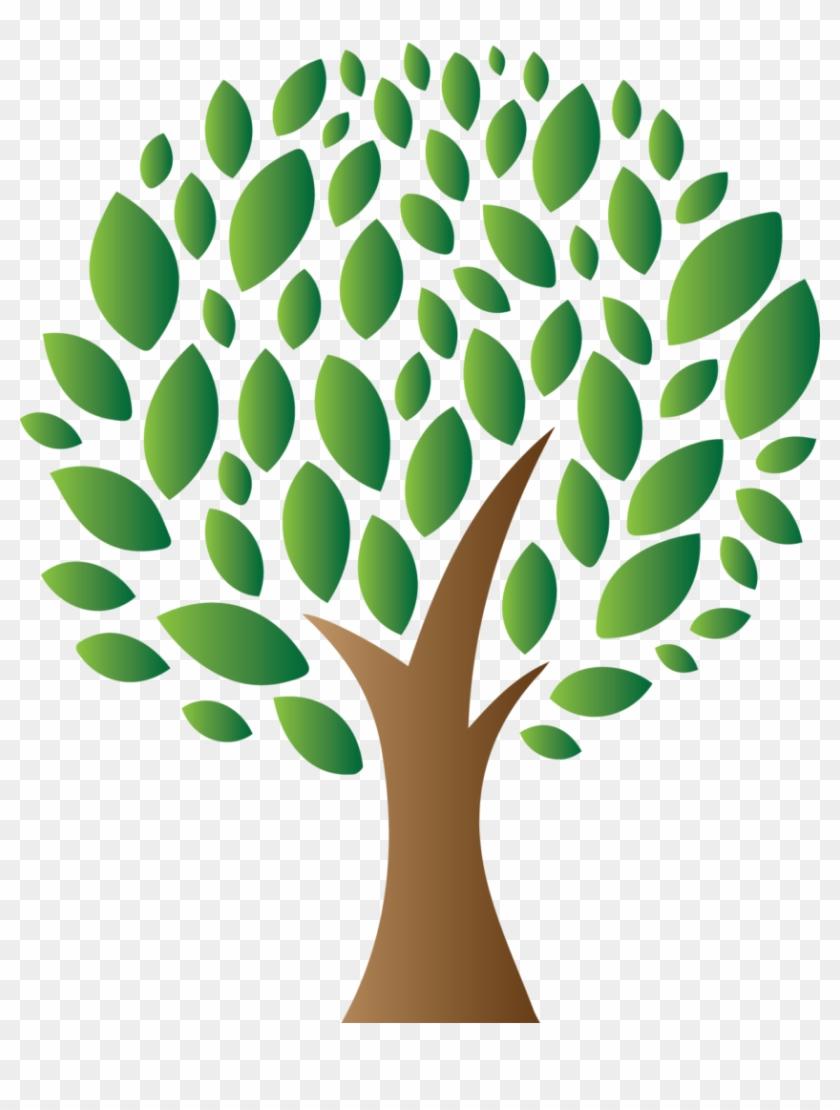 Better Growth - Modern Green Tree 8 3'x5' Area Rug #619236