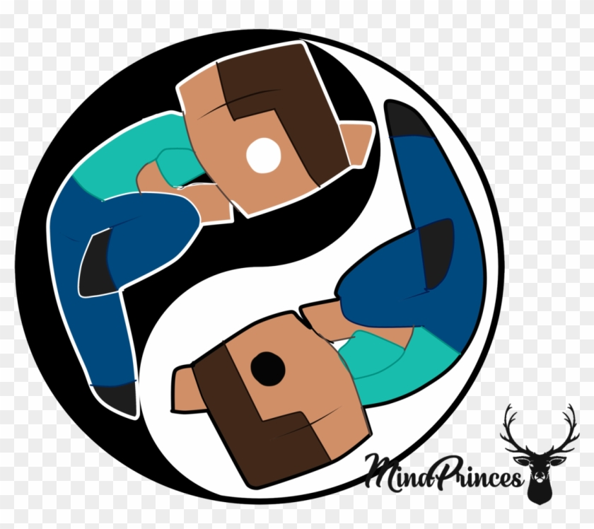 Herobrine And Steve Ying Yang Vector Ready To Print Alex