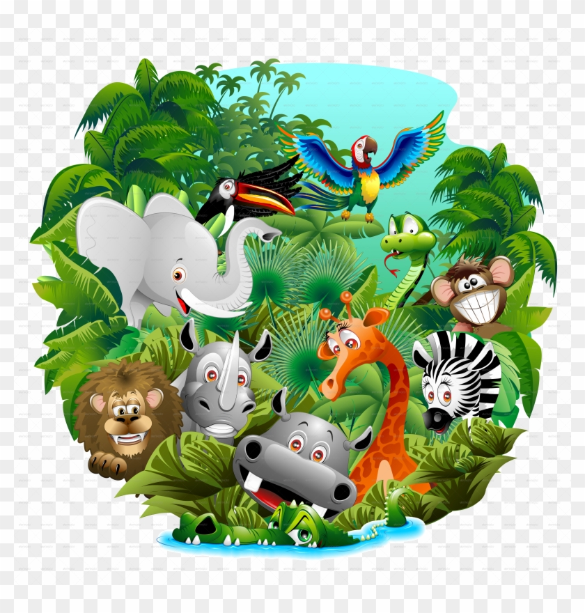 Competitive Wild Animals Cartoon Pictures On The Jungle Animals Cartoon Free Download Free Transparent Png Clipart Images Download