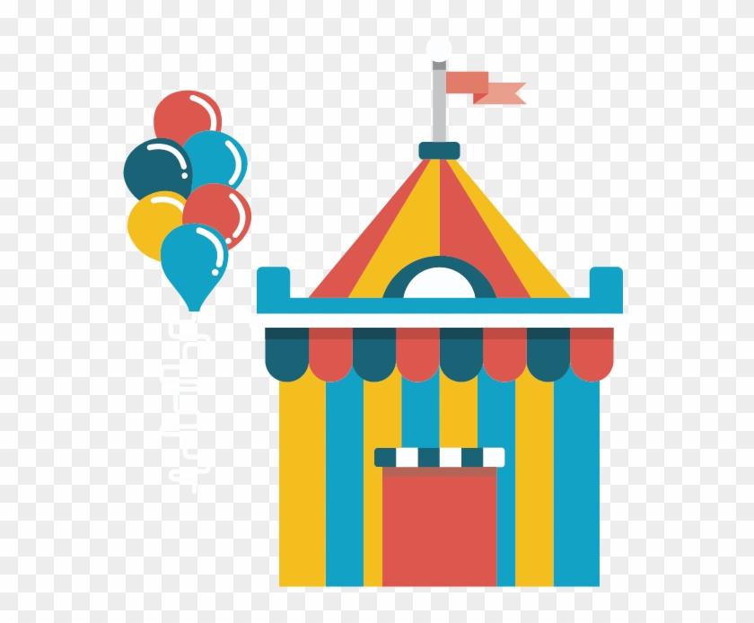 Amusement Park Clip Art - Elementos De Un Parque De Diversiones #620780