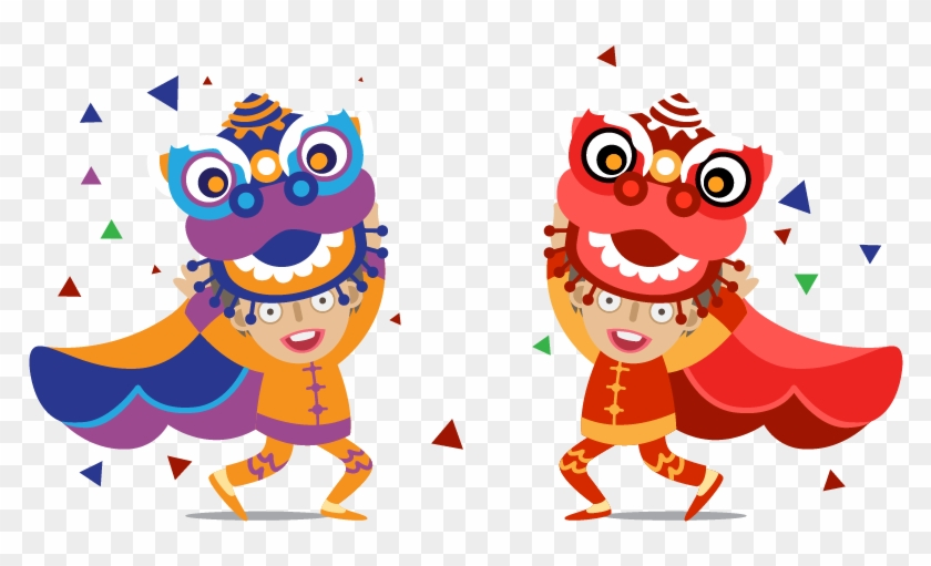 lion dance dragon dance chinese new year clip art lion chinese png 620925