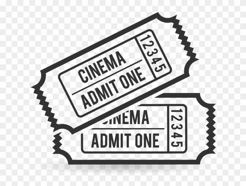 Ticket Black And White Clipart