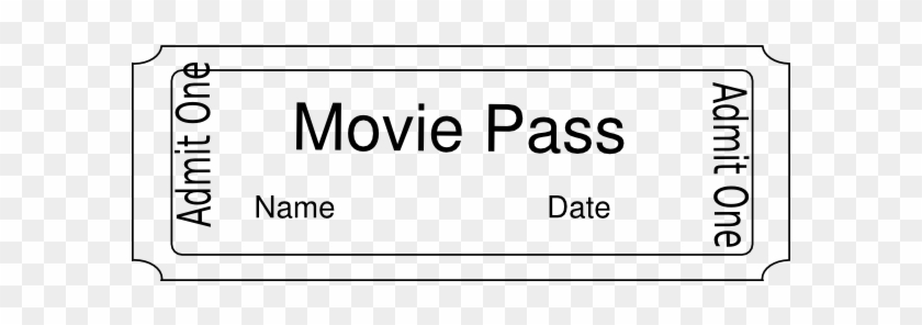Movie Pass Clip Art At Clker - Admit One Ticket Template - Free ...