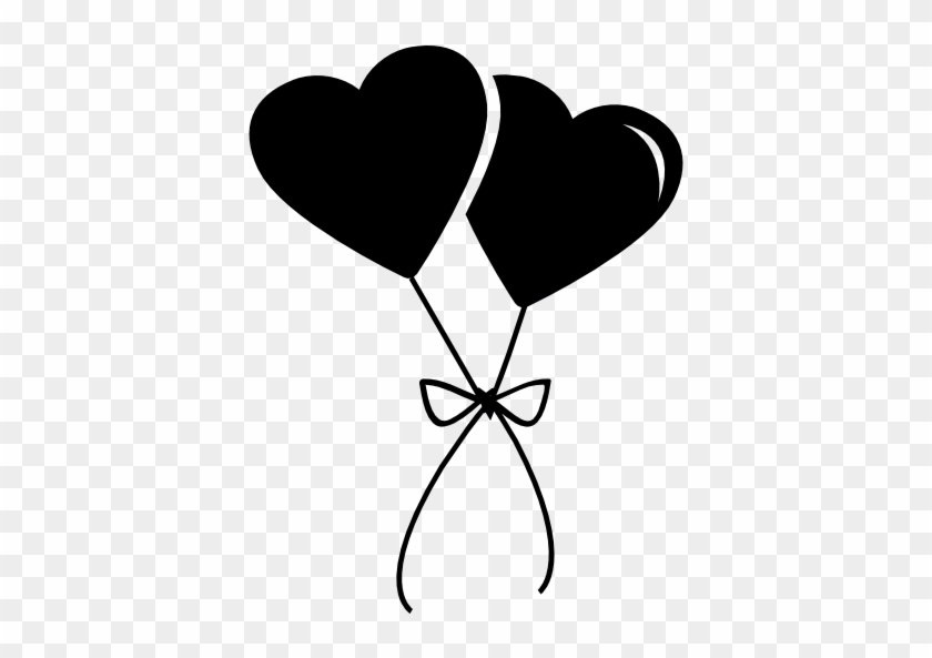 Baloons - Two Black Hearts #621715