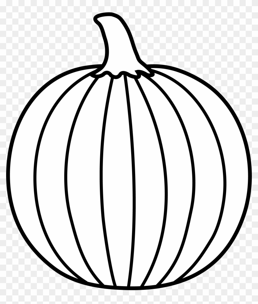 Pumpkin Outline Printable Black And White Art 622377