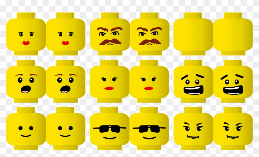 This is a photo of Lego Faces Printable in birthday