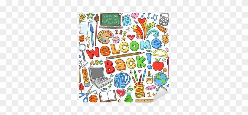 Back To School Supplies Notebook Doodle Vector Design - Welcome Back To School #622793