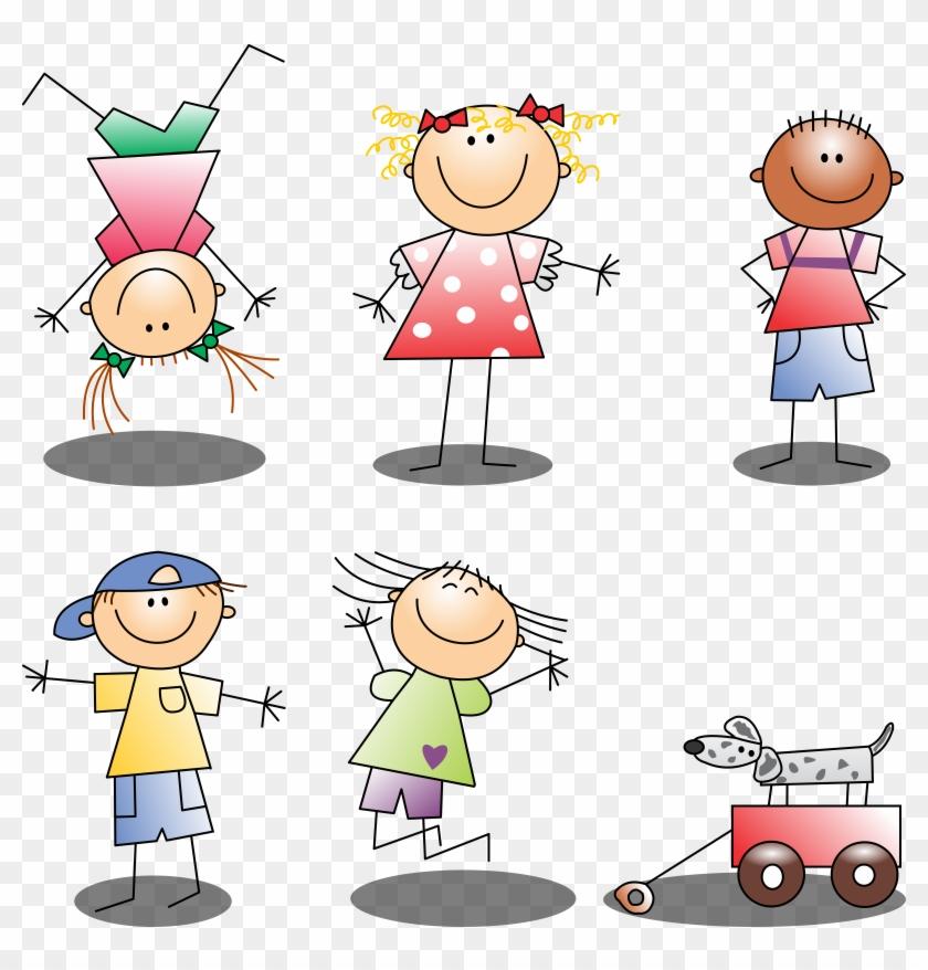 Dress Code - Cartoon Stick Figure Girl Jumping Shower Curtain #622836