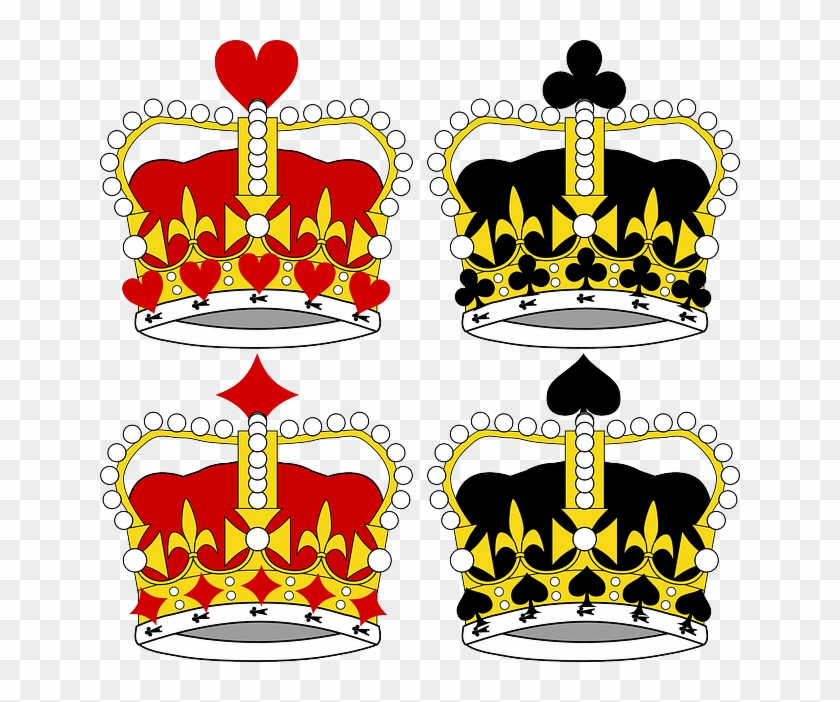 Vector Royal Crown Crowns King Royalty Royal - King And Queen Crown Cartoon #624447