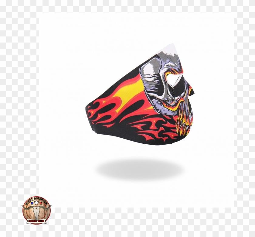 Red Evil Skull, Neoprene Mask - Field Sports Online Neoprene Full Face Mask #624610