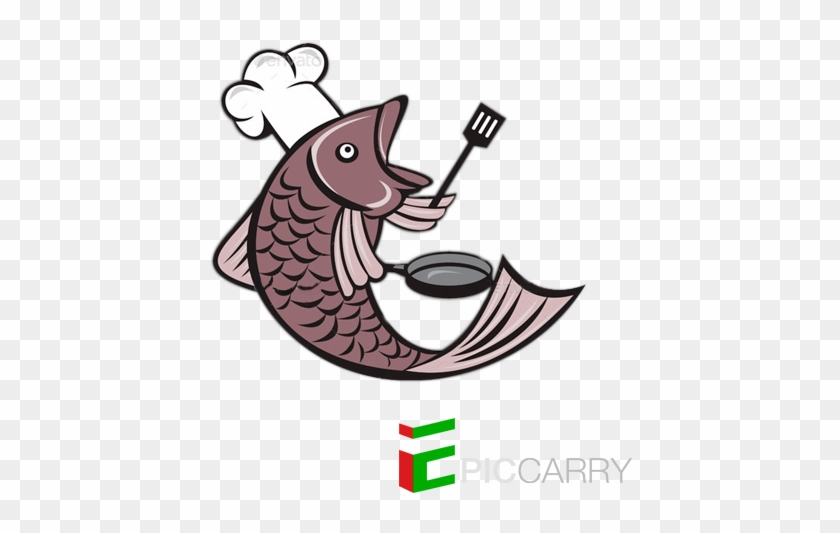 Bigger Fish To Fry - Fish Chef Vector #625630