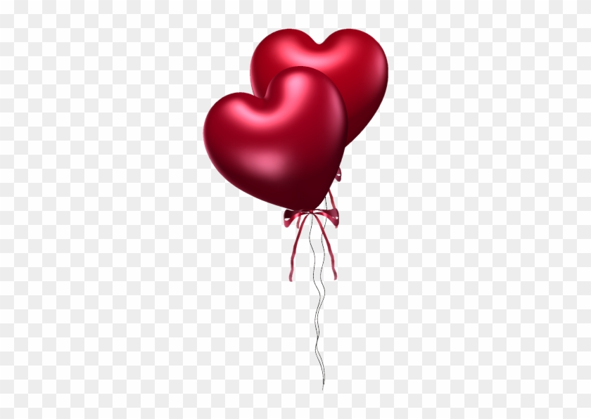 Two Red Heart Balloons - Love, Romance, Valentine's Day Card #626228