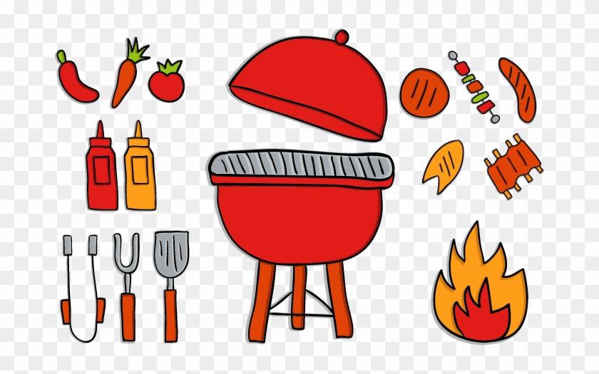 Cute Red Cartoon Kitchen Utensils Oven Cute Red Cartoon Kitchen